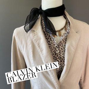 Calvin Klein blazer cream corduroy size M